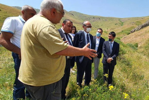 Construction of an irrigation reservoir in Hors community of Vayots Dzor with the support of the Government of Japan