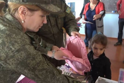 Russian peacekeepers, philanthropists deliver 1.2 tons of humanitarian aid to residents of  Nagorno Karabakh
